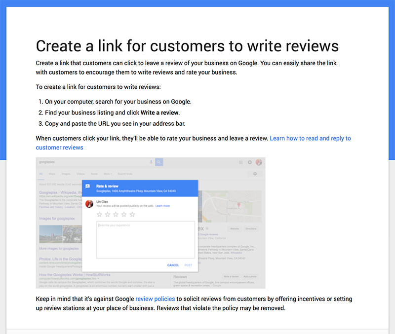 Create a Direct Link to your Google My Business Reviews - Local