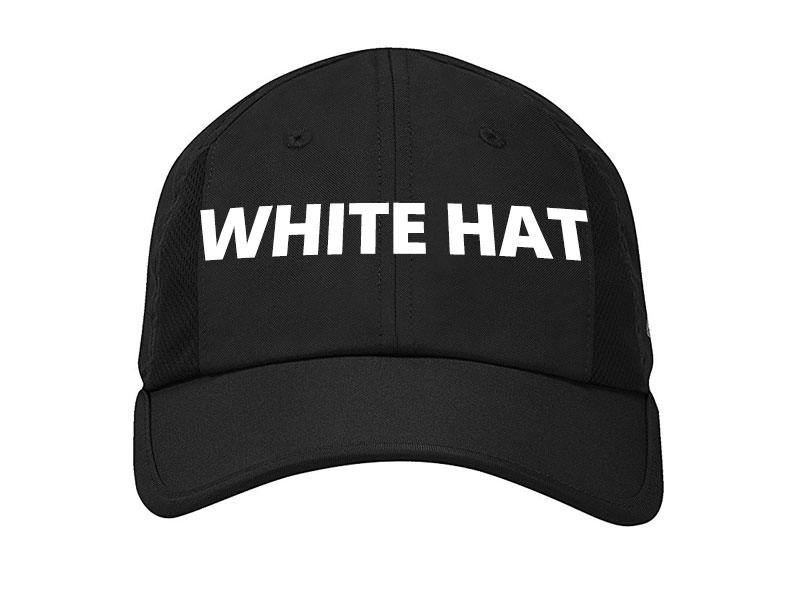 Black Hat with White Hat Text