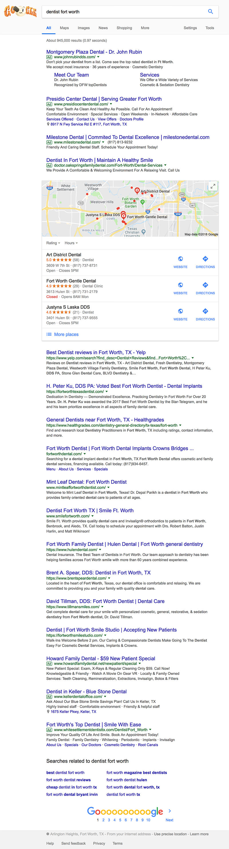 Dentist Fort Worth Search Results